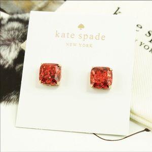 Kate spade ♠️ glitter stud earrings